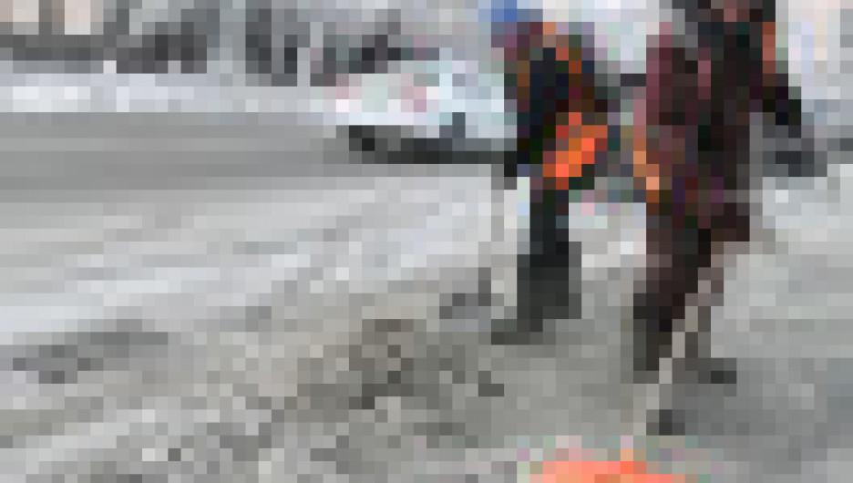 Гололед в Барнауле.