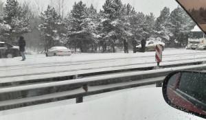 Массовая авария за Новым мостом в Барнауле.
