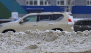 Барнаул после снегопада.
