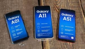 Смартфоны Samsung Galaxy А-01, А-11, А-51.