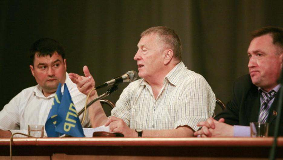Владимир Семенов, Владимир Жириновский и Андрей Щукин.