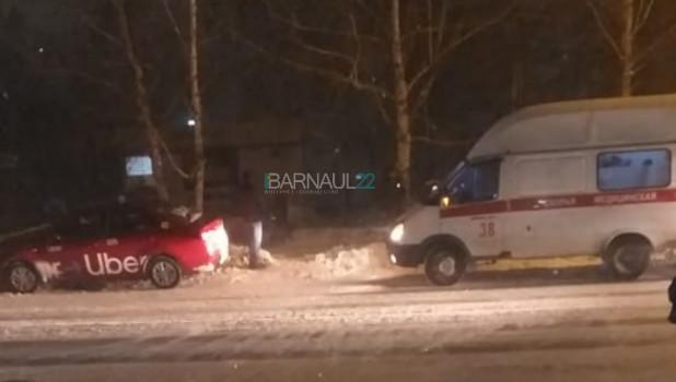 ДТП на пешеходном переходе. Барнаул.
