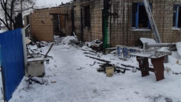 Пожар в Баевском районе.