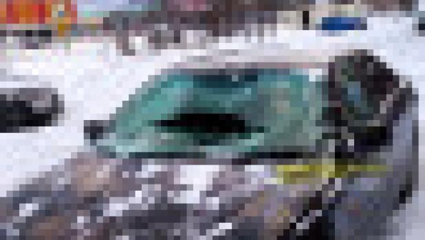 На автомобиль сошел снег.