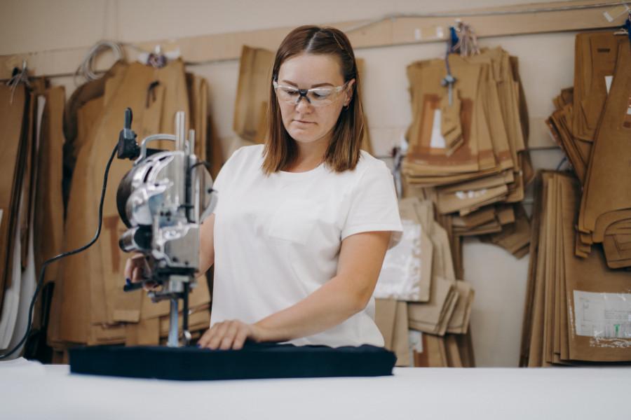 Alpalazone. Производство одежды.