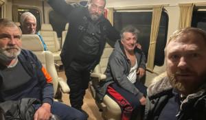 Освобожденные из ливийского плена россияне и гражданин Украины.