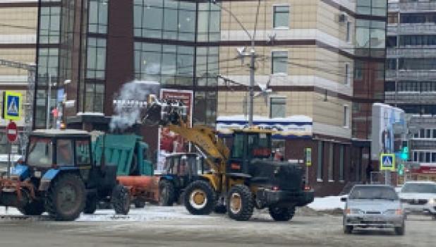 Порыв на Ленина в Барнауле.