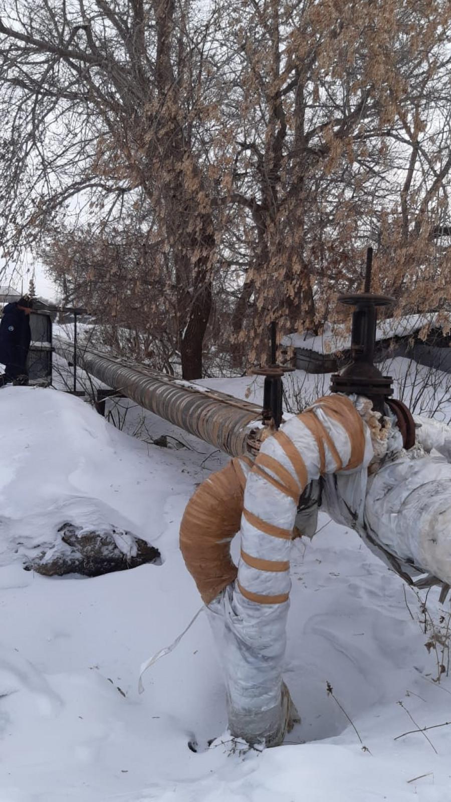 Тепловые сети в Горняке.