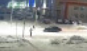 ДТП на пешеходном переходе на ул. Балтийской в Барнауле.