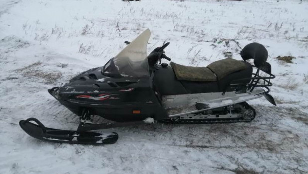 Браконьерский снегоход.