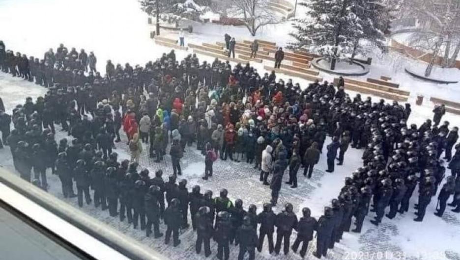Акция протеста 31 января. Красноярск.