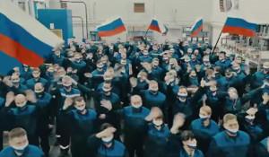 Флешмоб в поддержку президента России.