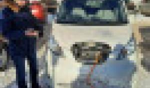 Станция для зарядки электромобилей.