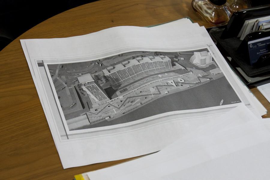 Проект 2015 года с закрытого конкурса, организованного прошлыми владельцами здания речного вокзала.