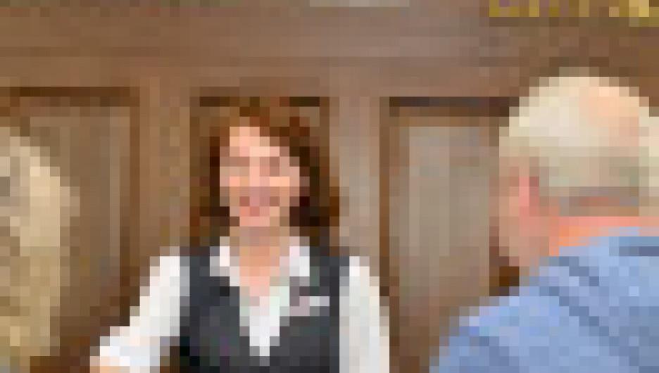 Стойка регистрации в санатории.