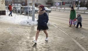 Гололед в Барнауле в феврале 2021-го года.