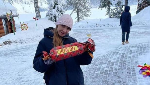 Татьяна Навка на Алтае.