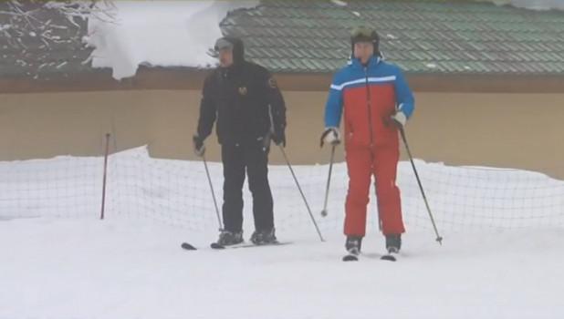 Путин и Лукашенко после переговоров покатались на лыжах