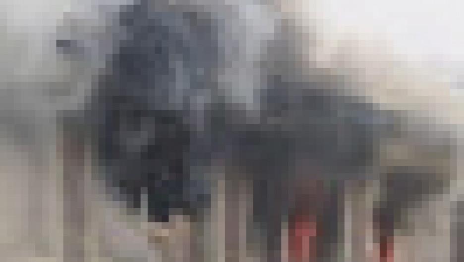 """Пожар в ТЦ """"Ткацкий"""" в Горно-Алтайске."""