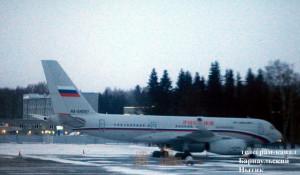 Самолет управделами президента в барнаульском аэропорту.