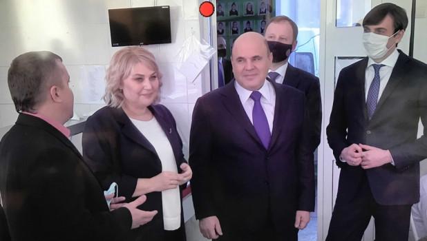 Михаил Мишустин в Барнауле.