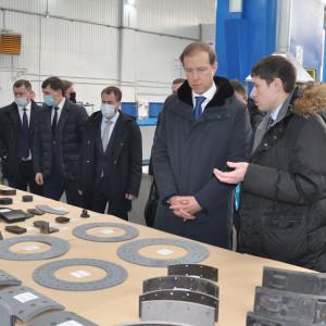 Министр промышленности Денис Мантуров познакомился с производством.