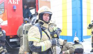 Учения пожарных.