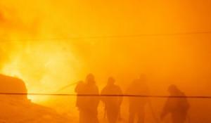 Пожар на территории радиозавода в Барнауле, 11  -12 марта 2021 года.