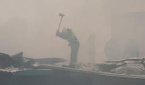 Пожар на радиозаводе в Барнауле 12 марта 2021 года.