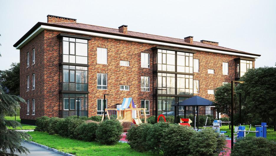 Многоквартирный дом в Змеиногорске (визуализация).