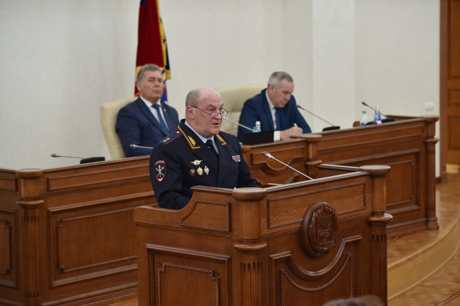 Начальник ГУ МВД по Алтайском краю Андрей Подолян.