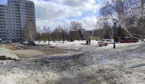 Сквер на ул. Панфиловцев в Барнауле.