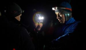 Ночная гонка лыжников в Барнауле.