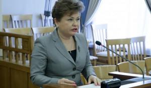 Стелла Штань. 31 марта 2021 года в правительстве Алтайского края.