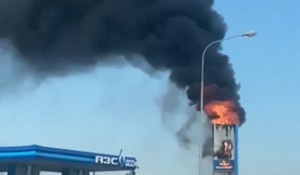 Пожар на АЗС под Новосибирском.