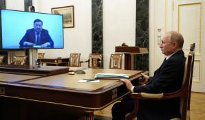 Глава Тувы Владислав Ховалыг пообщался с президентом РФ Владимиром Путиным.