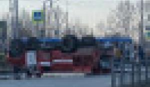 ДТП с пожарной машиной. Омск.