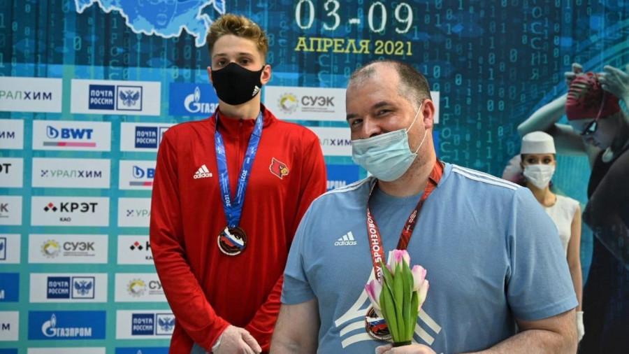 Илья Сибирцев и его тренер Андрей Жуков.
