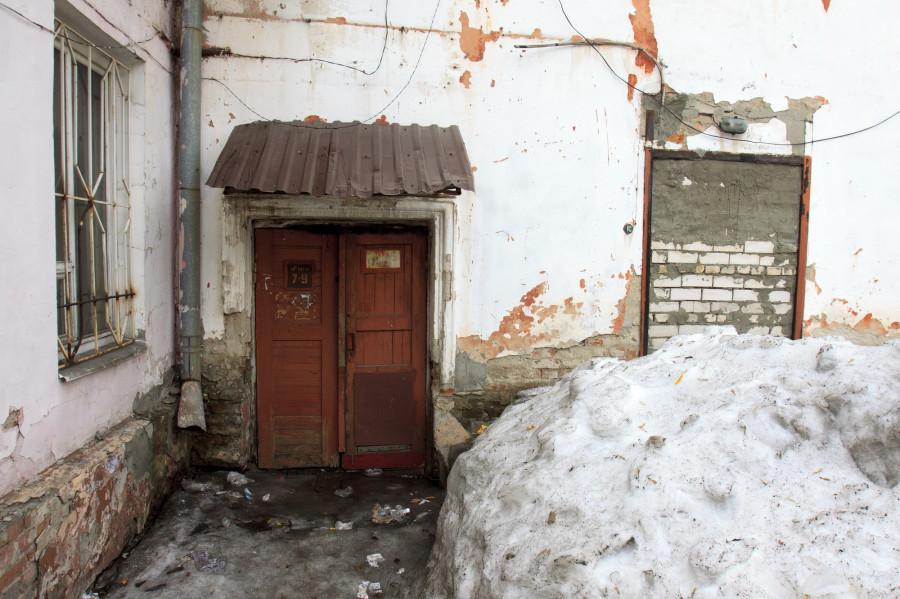 Двор дома на ул. Гоголя, 54.