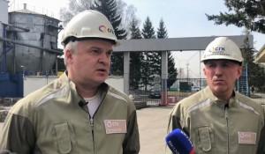 Технический директор СГК Олег Петров и генеральный директор СГК в Барнауле Игорь Лузанов.