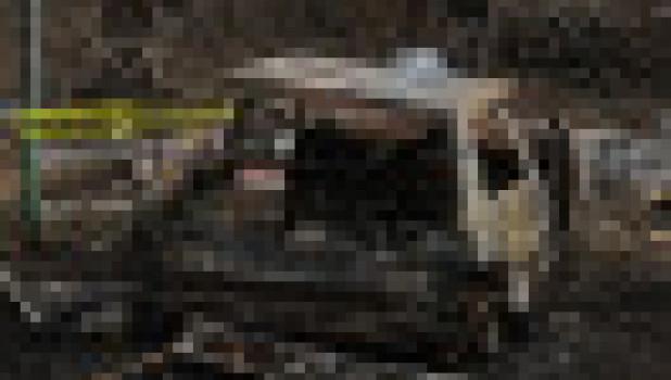 В Барнауле сгорел автомобиль.