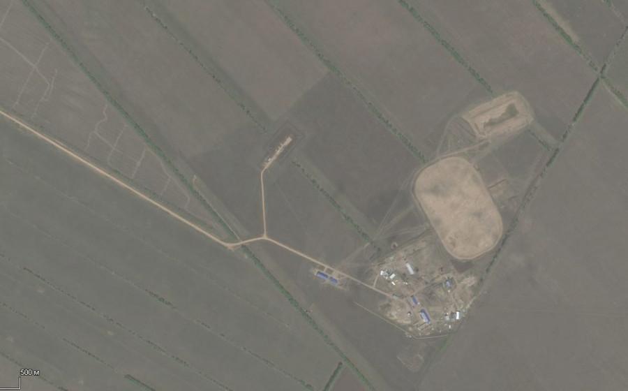 Захаровское месторождение со спутника.