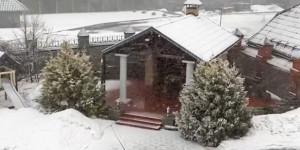 Снегопад в Белокурихе.