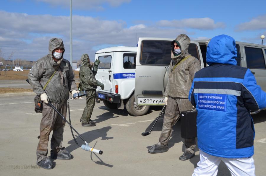 Учения спецслужб на Барнаульском гребном канале.