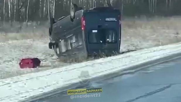 ДТП с катафалком в Алтайском крае.