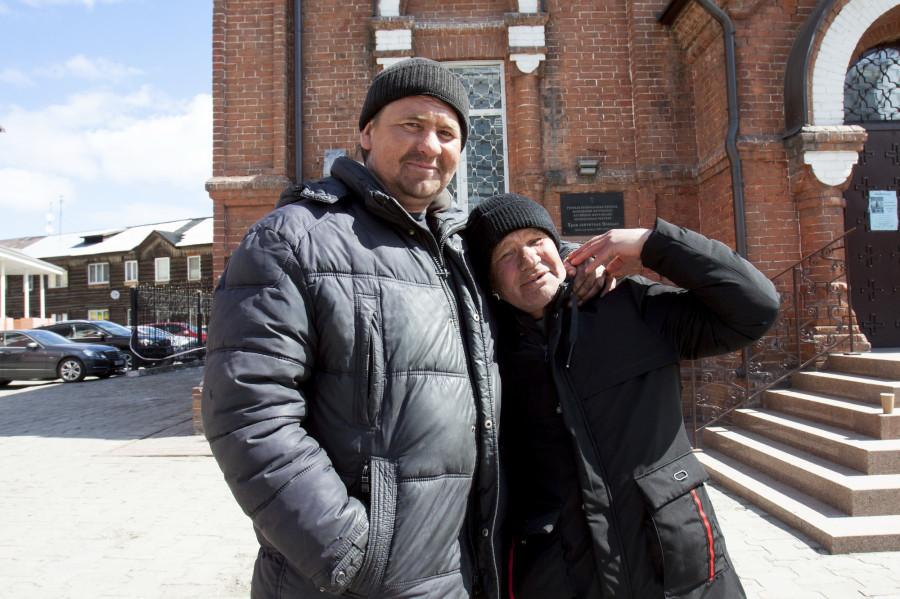 Сергей с анонимным другом.