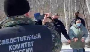 Место обнаружения останков девочки. Красноярский край.