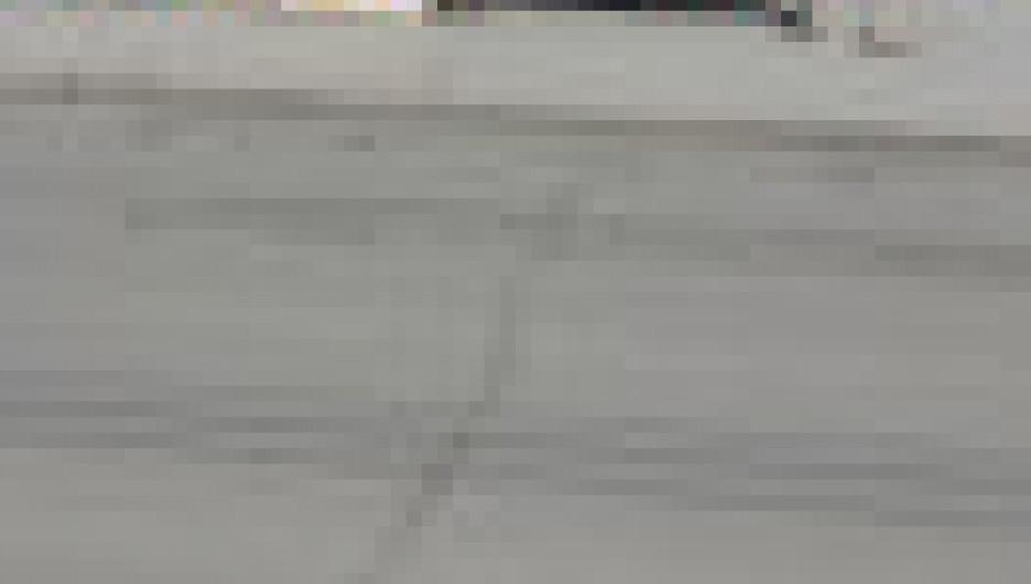 Трещина на дороге. Барнаул.
