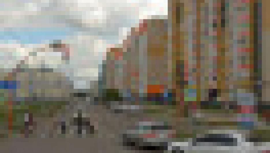 Пересечение ул. Ускова и Балтийской в Барнауле.