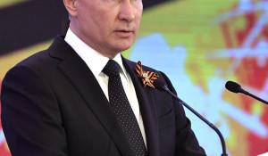 Владимир Путин в День Победы.